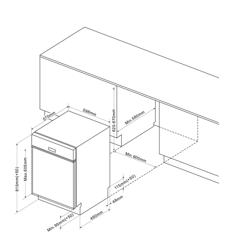 Einbau-Geschirrspueler 246974 / Skizze