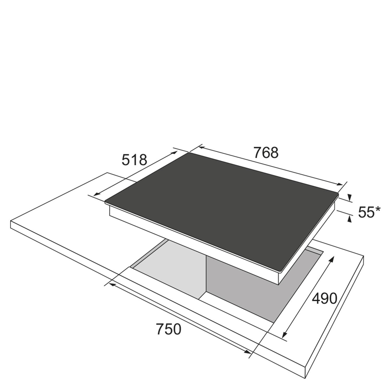 Induktionskochfeld 333173 / Skizze