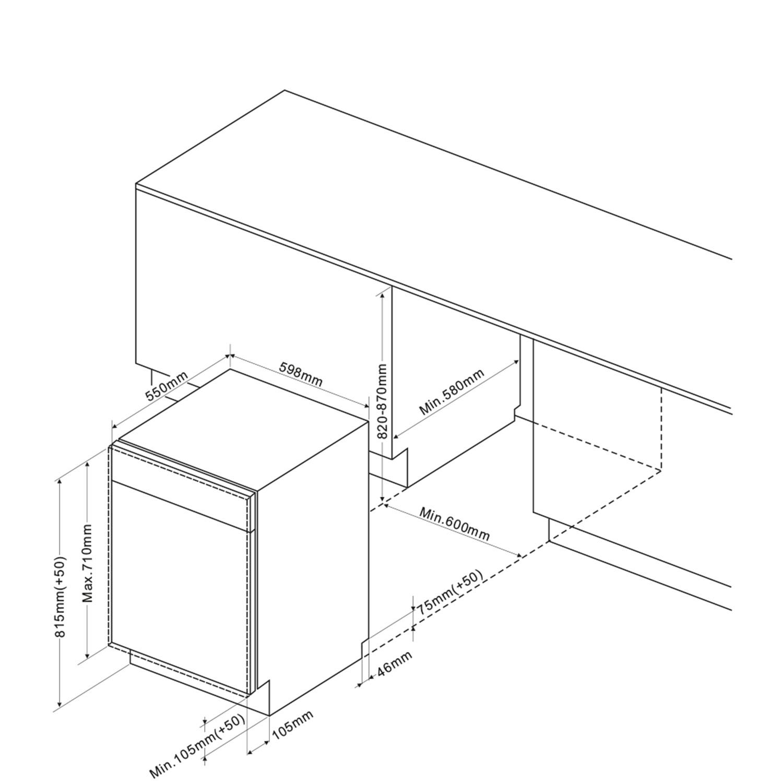 Einbau-Geschirrspueler 245694 / Skizze