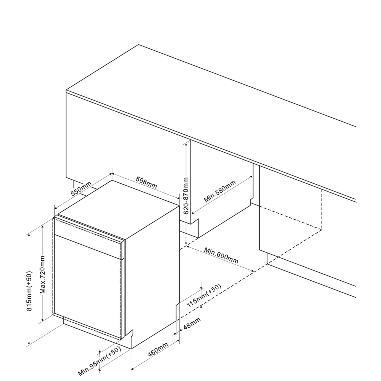 Einbau-Geschirrspueler 246704 / Skizze