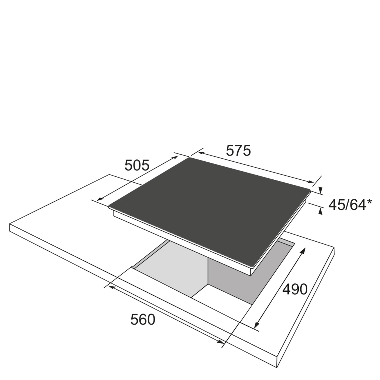 Glaskeramikkochfeld 332823 / Skizze