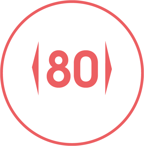 Gerätebreite / 80
