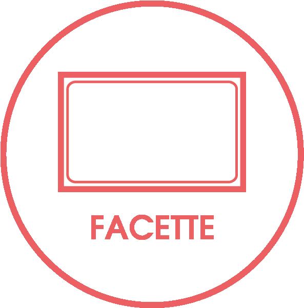Rahmenvariante Facettenschliff
