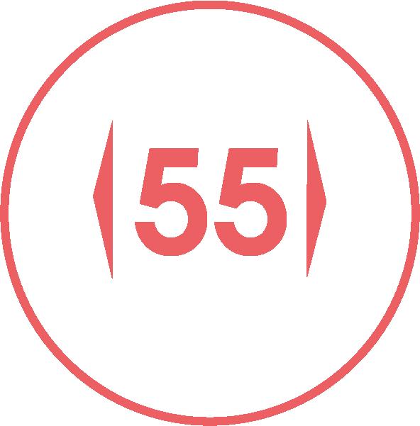 Gerätebreite / 55