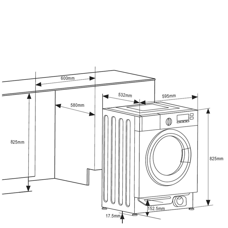 Einbauwaschmaschin 346574 / Skizze